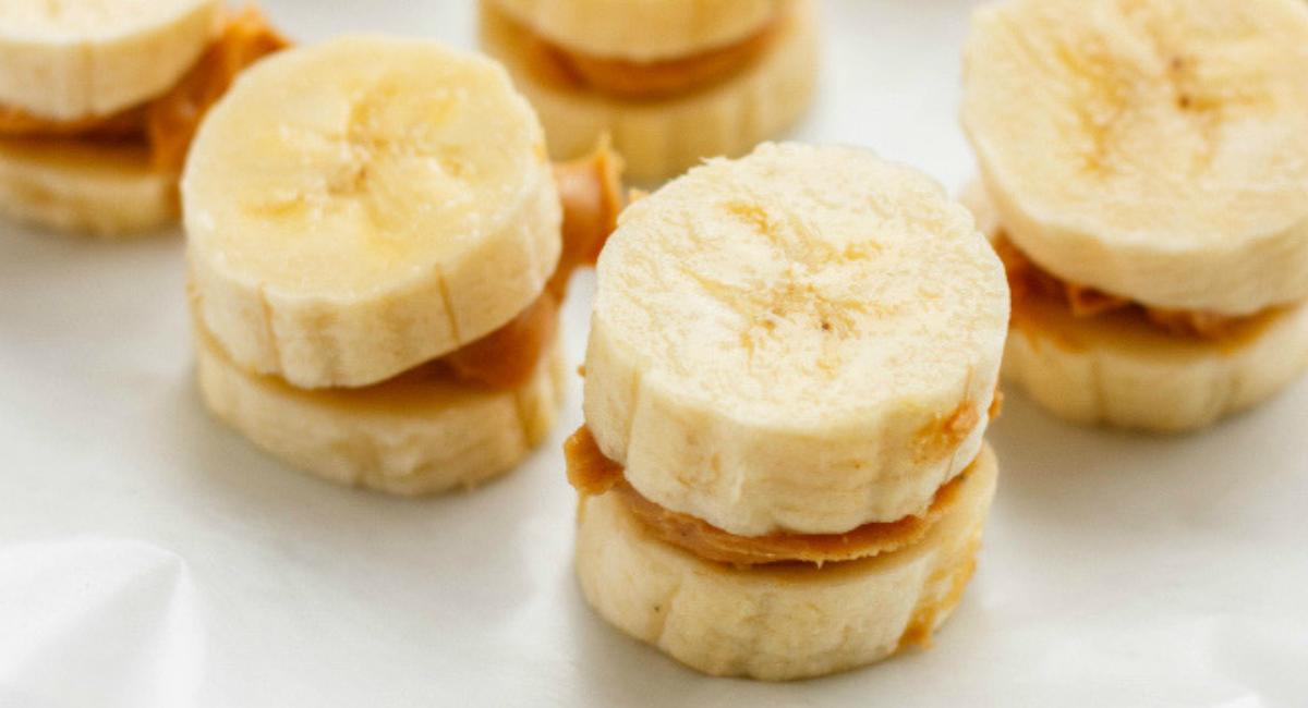 banaan met pindakaas