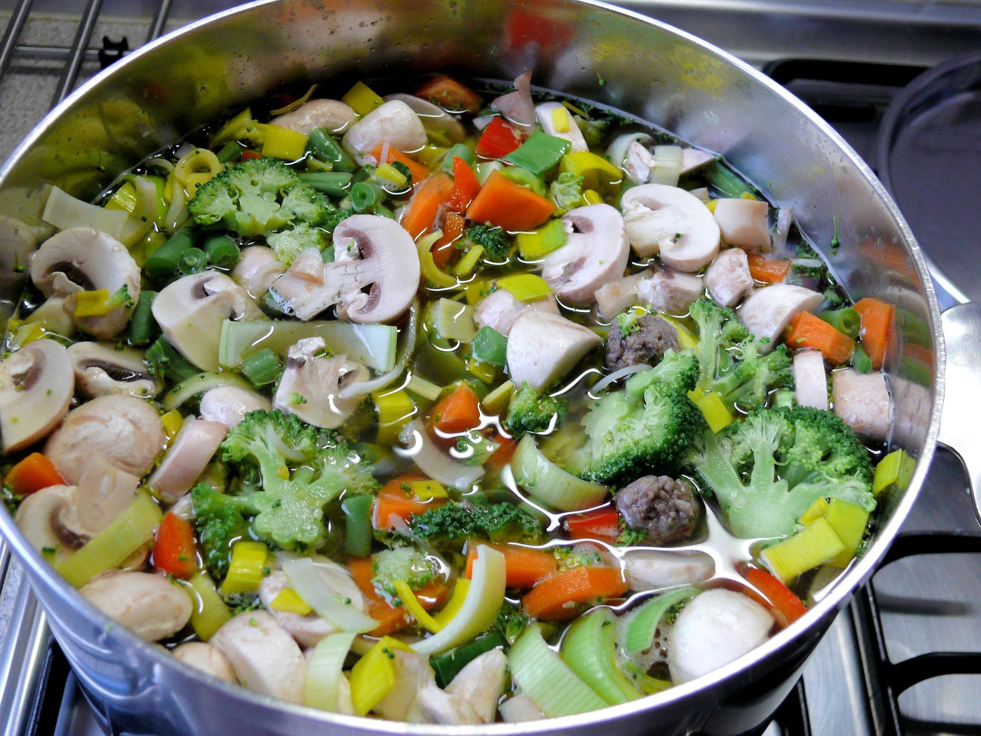 groentesoep met soepvlees