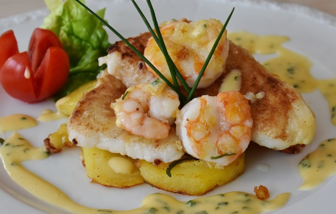 scampi met courgette