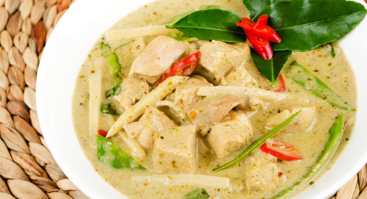 gezonde groene curry