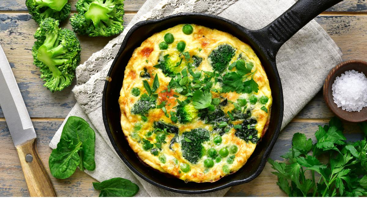 omelet met broccoli