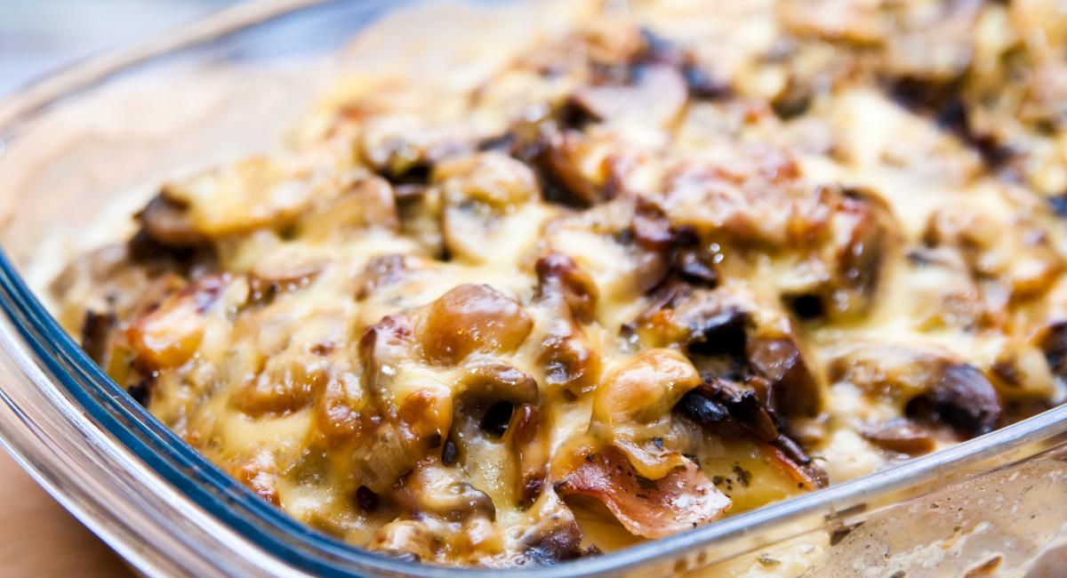 ovenschotel met champignons en kaas