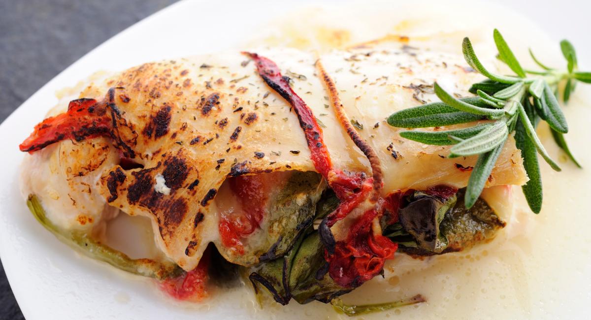 krab en spinazie ovenschotel