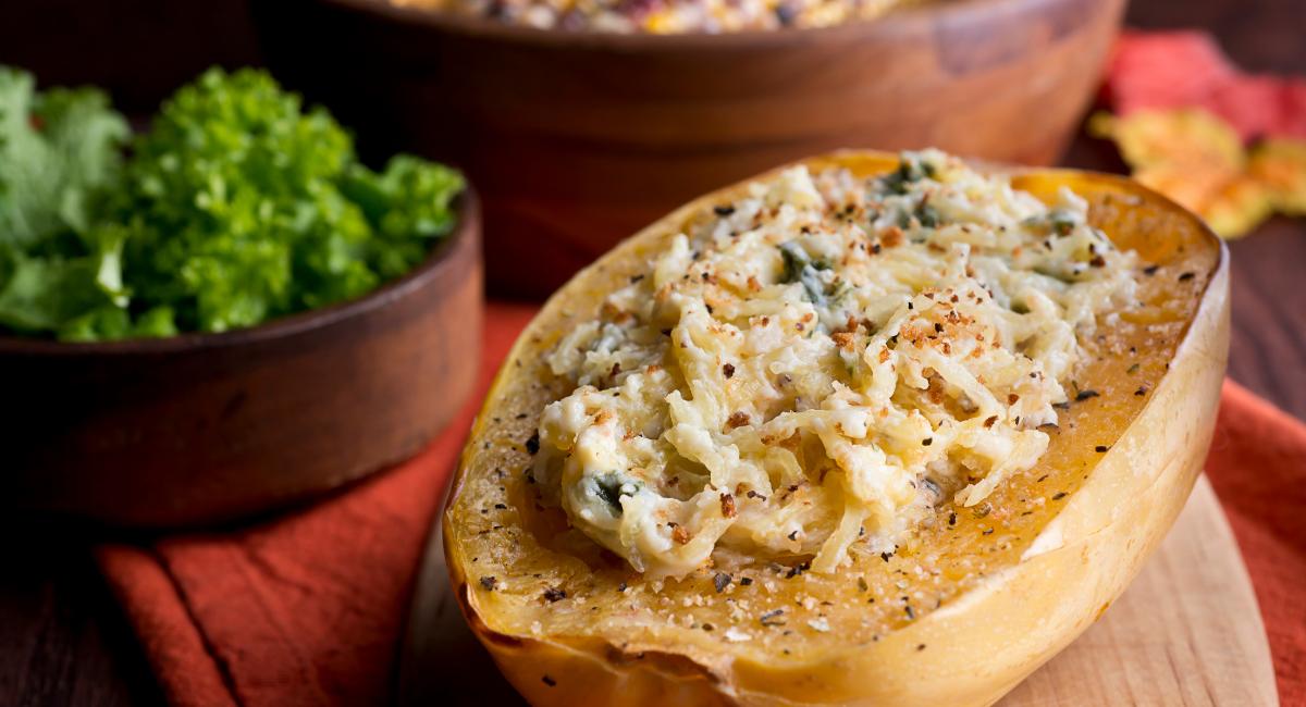 ovenschotel met spaghettipompoen en broccoli