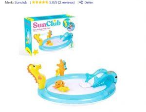 kinderzwembad met glijbaan